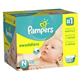 Pampers Swaddlers Diapers Size N Giant Pack 128 Count by American Health & Wellness