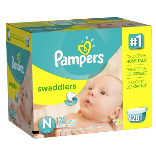 Pampers Swaddlers Diapers Size N Giant Pack 128 Count