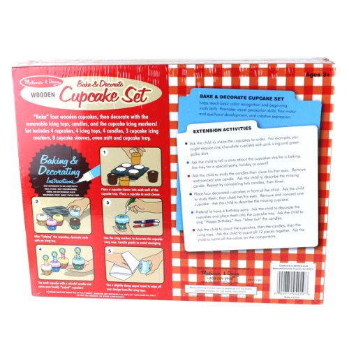 Melissa Doug Bake And Decorate Wooden Cupcake Play Food Set Home Garden Kitchen Dining Kitchen