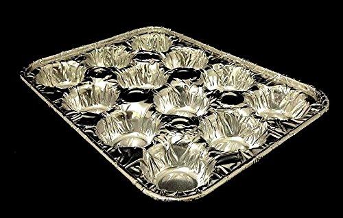 Handi-Foil 12-Cavity Mini-Muffin Aluminum Foil Pastry Baking Pan Tin - (pack of 12)