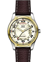 Q&Q Analog Off-White Dial Men's Watch - A186J504Y