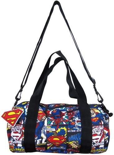 スーパーマン《コミック》ロールボストンバッグ(ショルダーストラップ付き) アメコミキャラクターグッズ