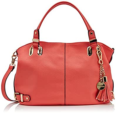 Dune Womens Deather Shoulder Bag 0019506660013470 Coral Synthetic