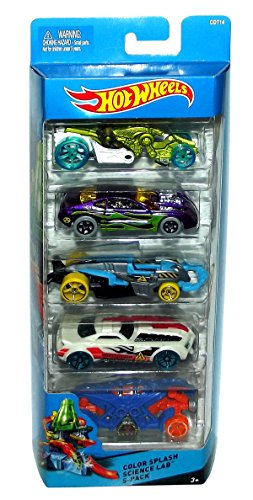 Hot Wheels, Color Splash Science Lab 5-Pack (Color Change Hotwheels Cars compare prices)