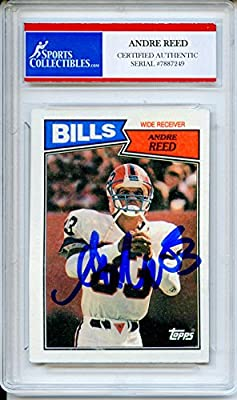 Andre Reed Autographed Buffalo Bills Encapsulated Trading Card - Certified Authentic