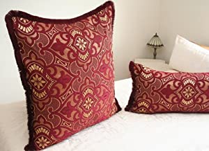 Exotic Floor Pillows : Luxury Moroccan Floor Cushion - NADIA in Red: Amazon.co.uk: Kitchen & Home