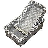 Ore International FP2323/2 Polypropylene Basket, 3-Inch, Gray, Set of 2