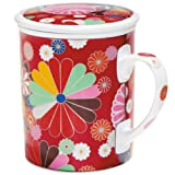 Floral Pop Mug with Lid