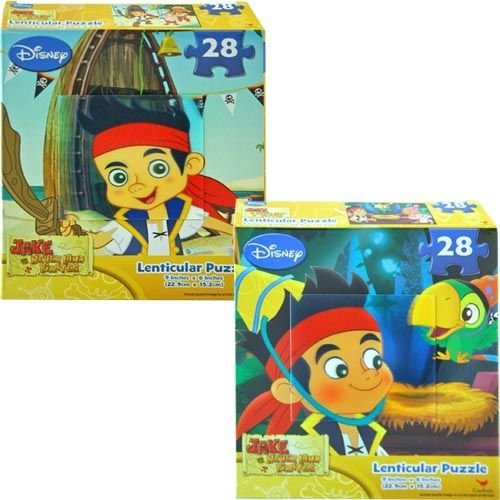Disney Jake and the Neverland Pirates 28 Piece Lenticular Puzzle - Assorted Styles