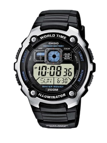 Casio Men's Digital Watch AE-2000W-1AVEF With Resin Strap
