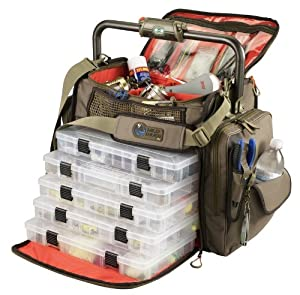 Wild River by CLC WT3702 Tackle Tek Frontier Lighted Bar Handle Tackle Bag with Five PT3700 Trays