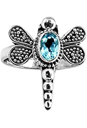 Xtremegems Dragonfly Blue Cz 925 Sterling Silver Ring Jewelry Size 7 190R