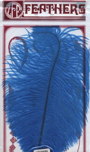 Zucker Feather Products Dark Turquoise Dyed Ostrich Drab Feathers, 9 to 12-Inch