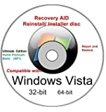 Windows Vista Full Re Install 32/64-bit All ANY Versions Ultimate Home Premium, Sp1 New Operating System Boot Disc - Repair Restore Recover DVD