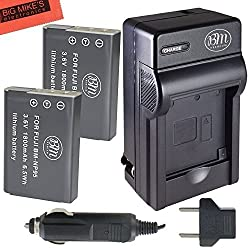 2 Pack Of NP-95 Batteries And Battery Charger for Fujifilm FinePix X100 X100S X-S1 Digital Camera Battery + More...