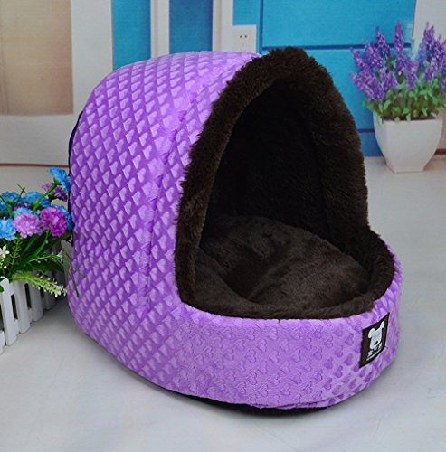 NEO Home Cute Plush Pet Bed Cave/Igloo Slipper Shape, Kitten Play House, Puppy/Dog Den, Lounge House Kennel Sleeping Bag with Microcushion Pillow, Most Lovely Gift for Pet. (Dog House Pillow compare prices)