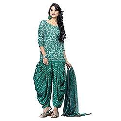 Triveni Women's Crape Salwar Kameez Dress Material (TSHCSSK6752B_Green)