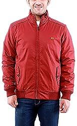 Time Option Men's Cotton Jacket (5014_Brick_44)