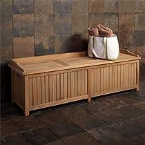 Jakie 4 ft Teak Wood Storage Bench