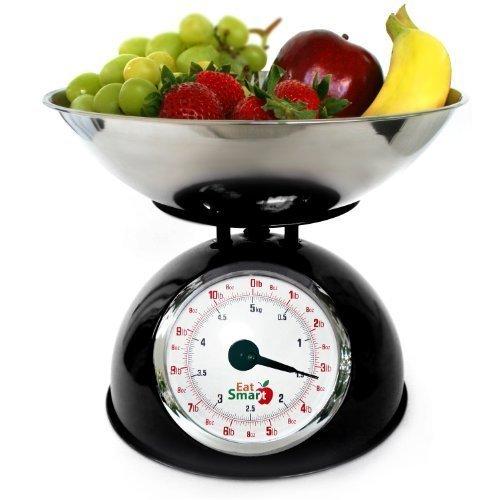 EatSmart Precision Retro Mechanical Kitchen Scale, Black by EatSmart