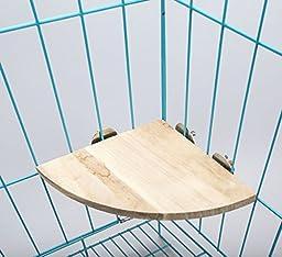 Govine Parrot Bird Cage Perches Round Wooden Coin Stand Platform