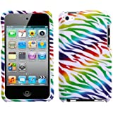 SODIAL Colorful Zebra Phone Protector Faceplate Cover For Apple iPod Touch (4th Generation)