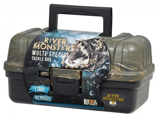 River Monsters 1 Tray Tackle Box with 62 Piece Basic Tackle
