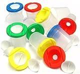 2x 4 Non Spill Paint Pots (4 different coloured lids)