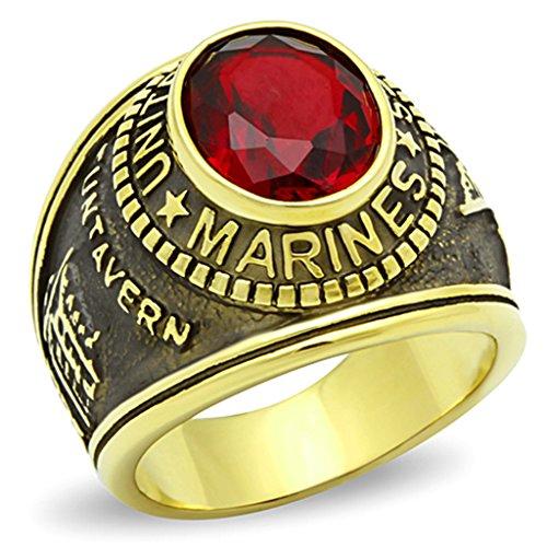 isady-us-marines-gold-rubis-anello-uomo-zirconia-cubica-rosso-talla-22