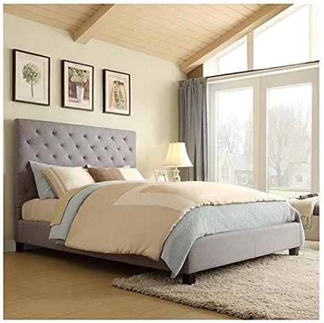 Sophie Grey Queen Platform Bed Complete Set Queen Rated Best Bedroom Sets of the 2014