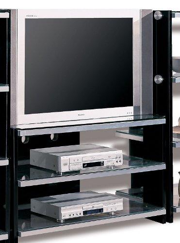 Image of Contemporary Black Plasma LCD Flat Panel TV Stand (VF_AZ00-7781x30238)