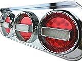 Officek 24V 3連 丸型 赤白 LED チェリーテール 左右セット 3連テール