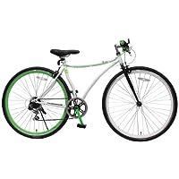 クロスバイク 700c 自転車 変形フレーム CCR7006CT ホワイト Piedi ディープリム