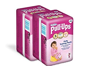 Huggies Pull Ups Convenience Fille Taille 4 (8-15 kg) x 16 Couches Lot de 2