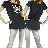 (エンポリオアルマーニ)EMPORIO ARMANI EA7 レディースクルーネックTシャツ 283657 4P138 ブラック [並行輸入商品]