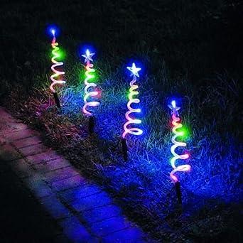 led spiral pathfinder christmas lights 4 pack