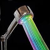 SODIAL(R) Douchette pommeau tete douche a main salle de bain lumiere LED 7 couleur