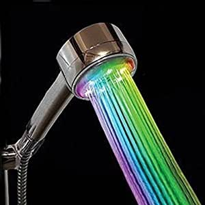 Douchette pommeau tête douche à main salle de bain lumière LED 7 couleur