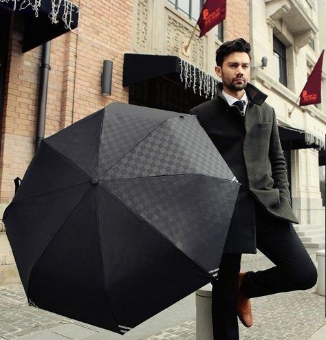 【ノーブランド】ビジネス用 折りたたみ傘 おしゃれ ワンタッチオープン 自動オープン 大きい傘 三つ折り傘