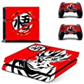 MightySticker® PS4 Designer Skin Game Console System p 2 Controller Decal Vinyl Protective Covers Stickers f Sony PlayStation 4 - Dragon Ball Z Battle Super Saiyan 5 God Son Goku DBZ Heroes Fan
