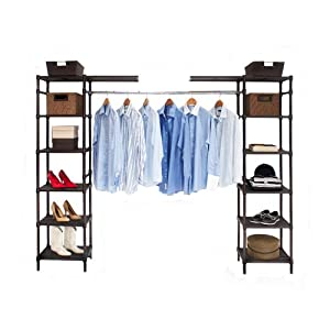 seville classics expandable closet organizer