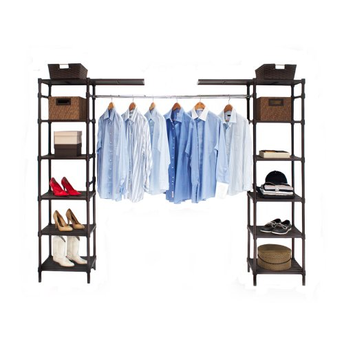 Seville classics expandable closet organizer system Closet organizing systems