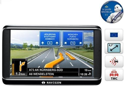 "Navigon 40 Premium GPS Europe (43 Pays) Ecran 4,3"" TMC"
