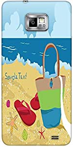 Snoogg Summer Illustration Protective Case Cover For Samsung Galaxy S2