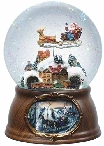 65-Musical-Rotating-Santa-Claus-with-Train-Christmas-Snow-Globe-Glitterdome