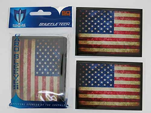 max-pro-100-usa-american-flag-shuffle-tech-sleeves-iconic-flags-collection-fits-magic-mtg-pokemon-ca