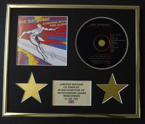JOE SATRIANI/CD Display/Limitata Edizione/Certificato di autenticità/SURFING WITH THE ALIEN