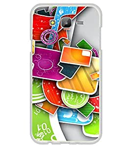 Multi Colour Pattern 2D Hard Polycarbonate Designer Back Case Cover for Samsung Galaxy On7 G600FY :: Samsung Galaxy On 7 (2015)