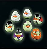 Two Dozen (24) Mini Glow-in-the-dark Halloween Rubber Ducks Duckie Ducky