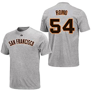 Sergio Romo San Francisco Giants Grey Player T-Shirt by Majestic by Majestic